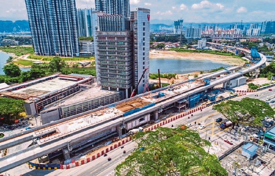 Final stage of platform casting works at the Sri Delima MRT Station site as at May 31 2019. - Pic source: www.mymrt.com.my