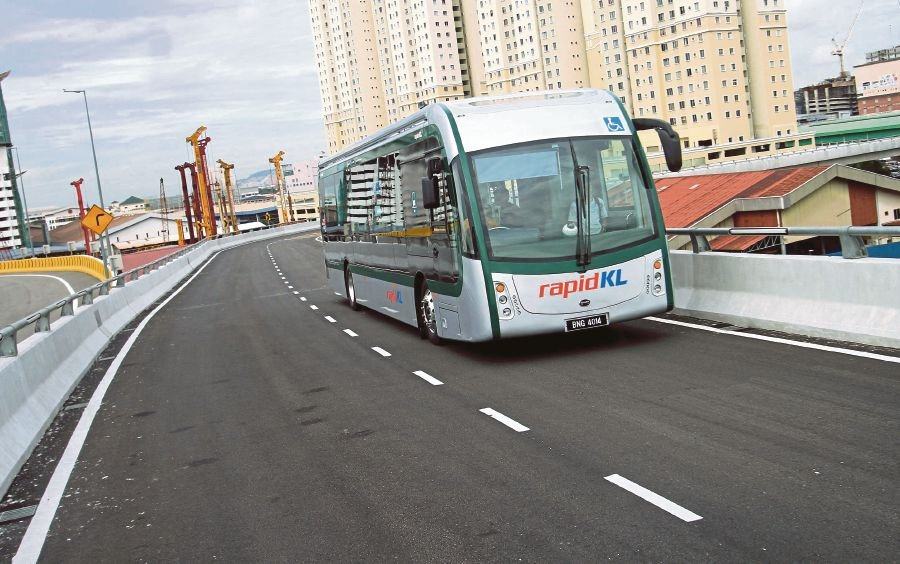 The Sunway Bus Rapid line is serviced by electric busses. Pix by Saddam Yusoff