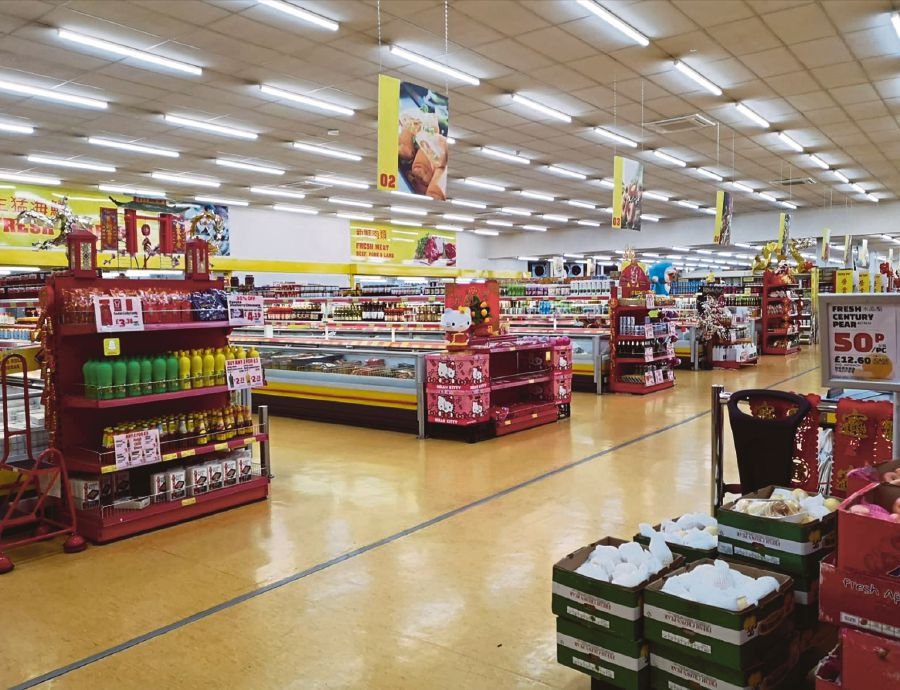 A deserted Asian supermarket in London. PIC BY ZAHARAH OTHMAN