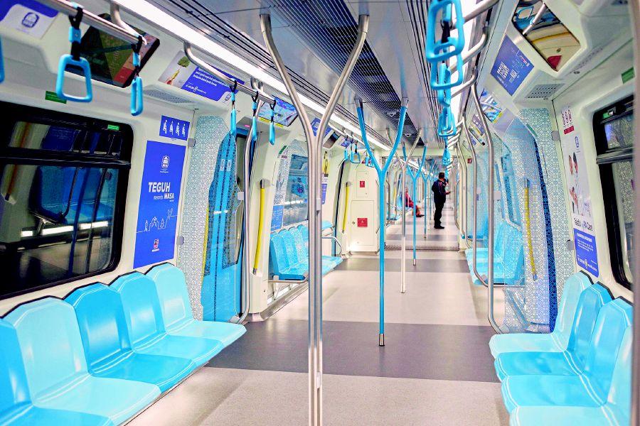 The new Mass Rapid Transit marks a shift towards using public rail services. Pix by Hafiz Sohaimi