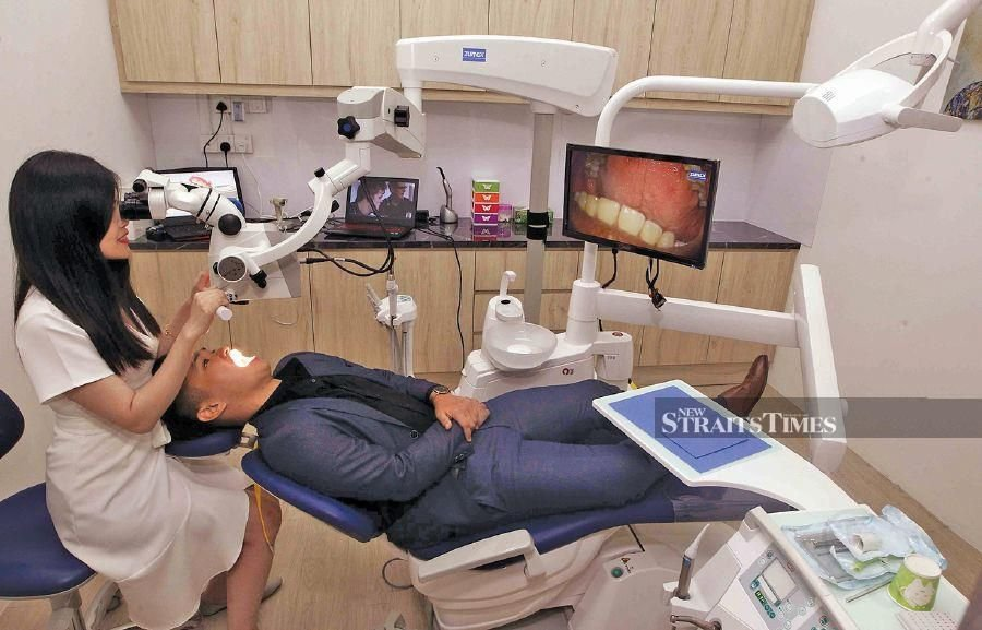 Inside the surgery room of a Q & M Dental Clinic.