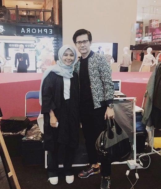 Engineer-turned-fashion entrepreneur Ana Abu with Andrew Tan, founder of Kuala Lumpur Fashion Week Ready-To-Wear.