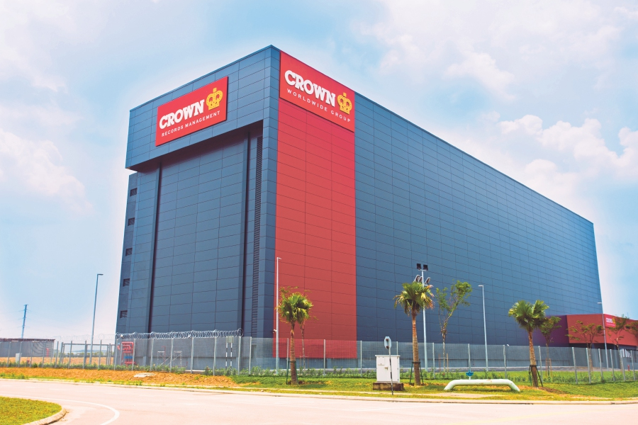 The newly launched Crown Records Management facility in Johor.