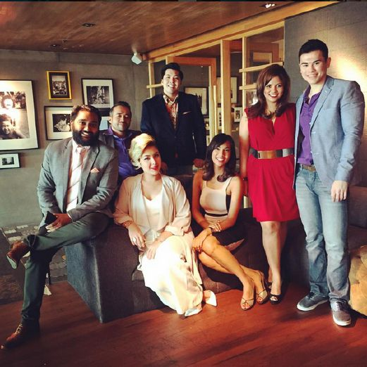Tony Eusoff (second from left) with the cast of In Your Face. Photo courtesy of Tony Eusoff