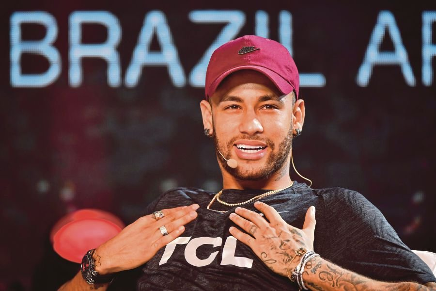 03929aab7a Brazilian PSG s footballer Neymar Junior takes part in a promotional event  of the Chinese consumer electronic brand TCL for the media