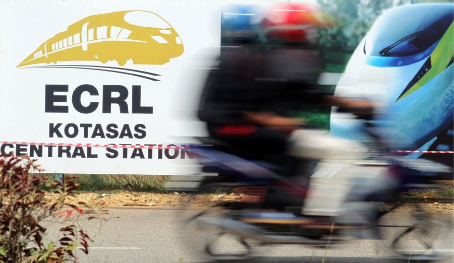 The cost of the East Coast Rail Link (ECRL) may exceed RM66 billion. Pic by FARIZUL HAFIZ AWANG