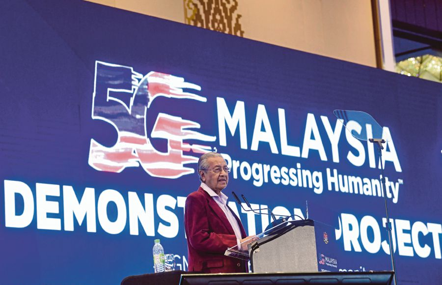 In his speech at the launch of the 5G Demonstration Projects in Langkawi tonight, Tun Dr Mahathir Mohamad says the Malaysia Inc concept he introduced during his first stint as Prime Minister still applies to this day. - Bernama pic