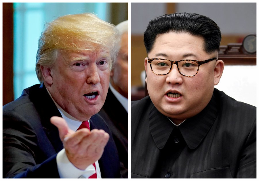(File pix) A combination photo shows US President Donald Trump (left) and North Korean leader Kim Jong Un (right) in Washignton, DC, US May 17, 2018 and in Panmunjom, South Korea, April 27, 2018 respectively. Korea Summit Press Pool/Reuters Photo