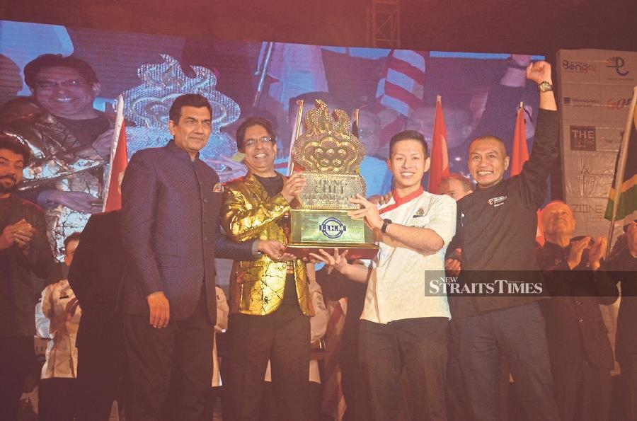 From left: Young Chef Olympiad's (YCO) principal judge and chief mentor, chef Sanjeev Kapoor, YCO founder and International Hospitality Council chairman Dr Suborno Bose, Taylor's University's student and YCO winner Chen Khai Loong, and his mentor, Chef Sharizan Azali Mohamed Zamzuri in Kolkata, India, recently.