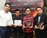 The New Straits Times Press (NSTP) bagged four awards in the Selangor State Development Corporation (PKNS) media night, today. Harian Metro reporter Mazizul Dani (3rd from left) won first place in the Best Sports Reporting, while New Straits Times' sports reporter Ajitpal Singh (left) came in second. Under the Best Photography Award, the first and third spots were won by NSTP photographers Muhammad Sulaiman (2nd from left) and Abdullah Mohd Yusof (right).  Pix by Mohd Asri Saifuddin <br><a href='205895'>Read More</a>