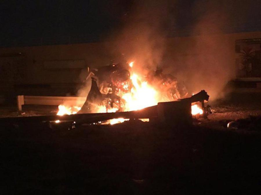 Three Katyusha rockets fell on Baghdad International Airport, the military-run Security Media Cell said in a statement early on Friday. (Photo: Courtesy Twitter)