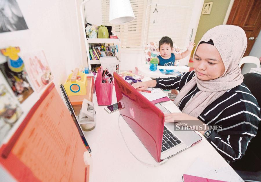 Home-based work programmes have benefited women, who can participate in the workfore while also allowing them to care for their children. FILE PIC