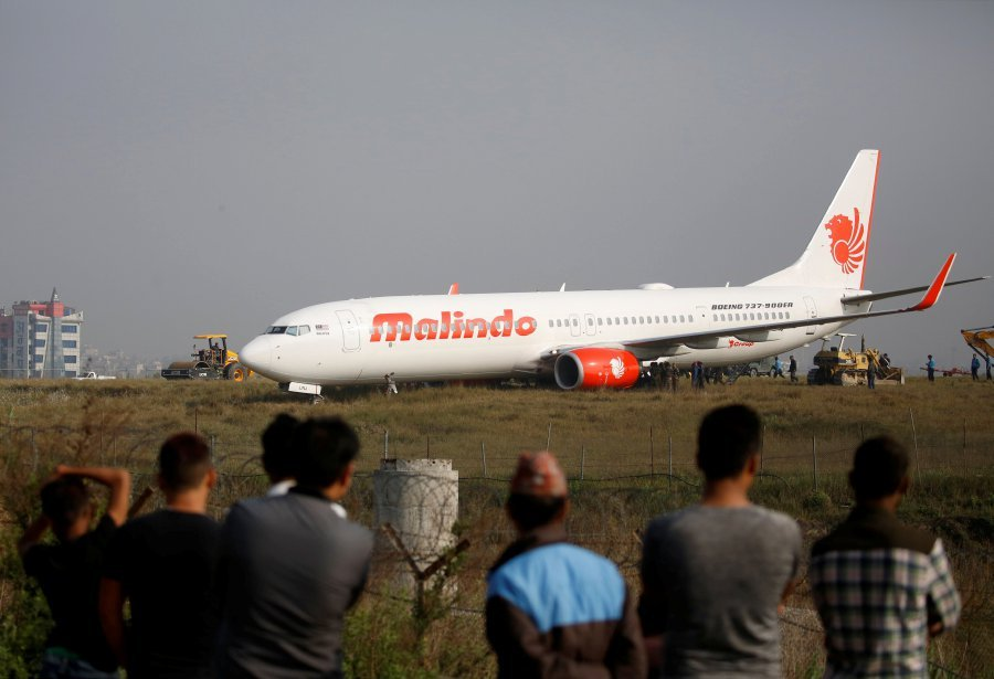 Nepal's international airport shut down after plane skids off runway