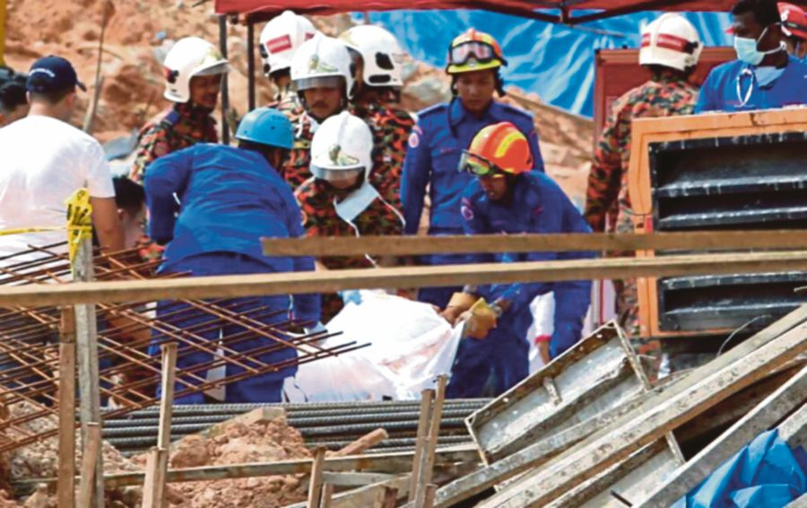 About 20 Workers Feared Buried In Landslide In Tanjung Bungah