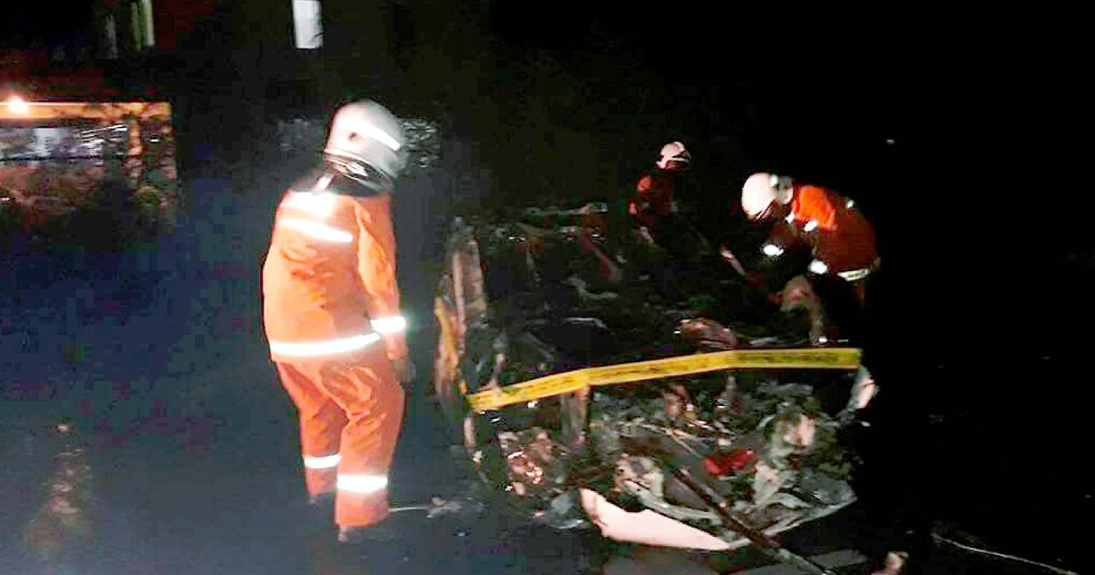 Man burns to death when car turns turtle, bursts into flames in Semporna