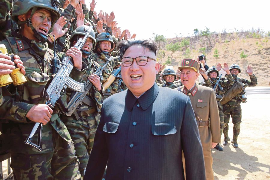 We tend to view North Korea as a weird country run by a loony dictator with bad hair. But, it is also a regime that wants to survive. (REUTERS PIC)