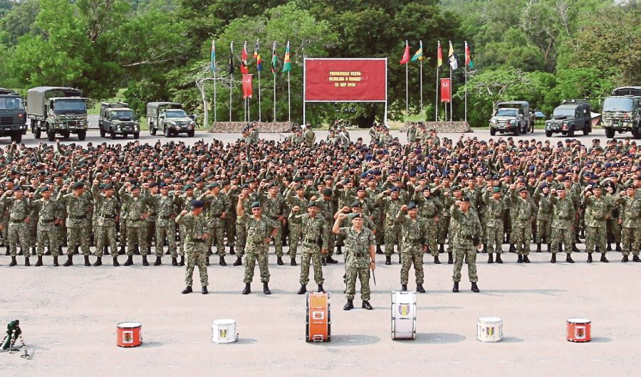 There is a need for an assessment of the size and role of the army, which because of legacy issues, outsizes that of the navy, coastguard and air force put together. (File pic)