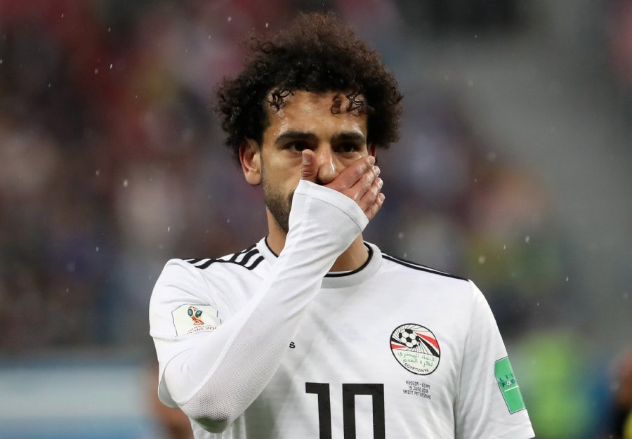 7a658333a Mohamed Salah of Egypt reacts during the FIFA World Cup 2018 group A  preliminary round soccer match between Russia and Egypt in St.Petersburg.  EPA-EFE