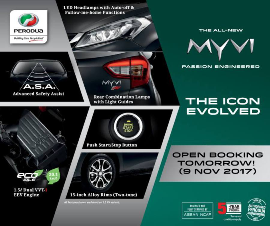 Bookings for new Myvi open, prices start from RM44,300