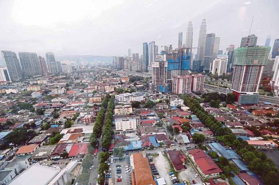 An aerial view of Kampung Baru.