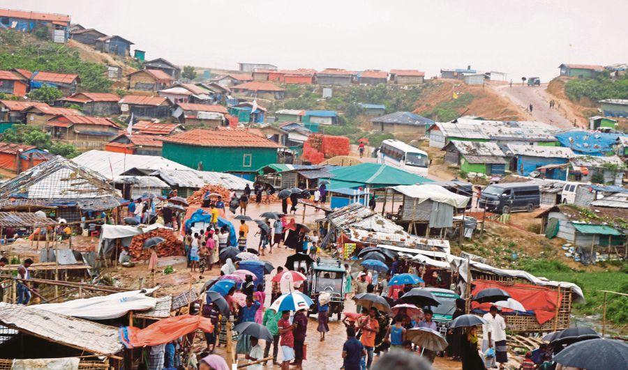 A Rohingya refugees camp in Kutubpalang, Cox's Bazar, Bangladesh. EPA PIC