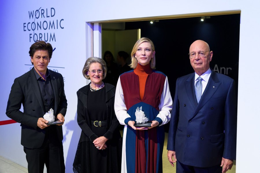 Shah Rukh Khan conferred with Crystal Awards in Davos