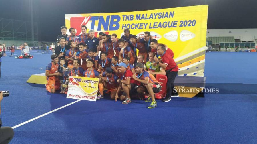 UniKL players celebrate after winning the TNB Cup on Saturday.