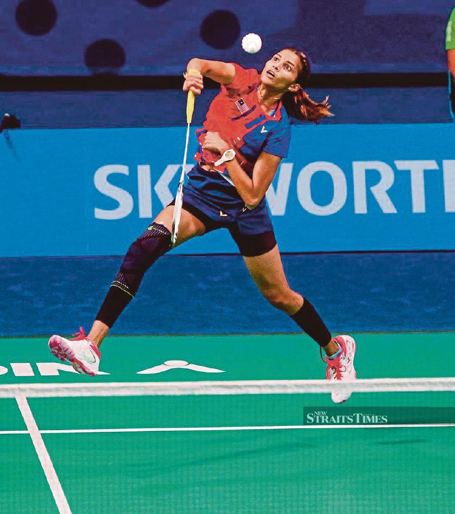 Shuttler S. Kisona is ready to double up her efforts to become one of Malaysia's top women's singles players. - NSTP/OSMAN ADNAN