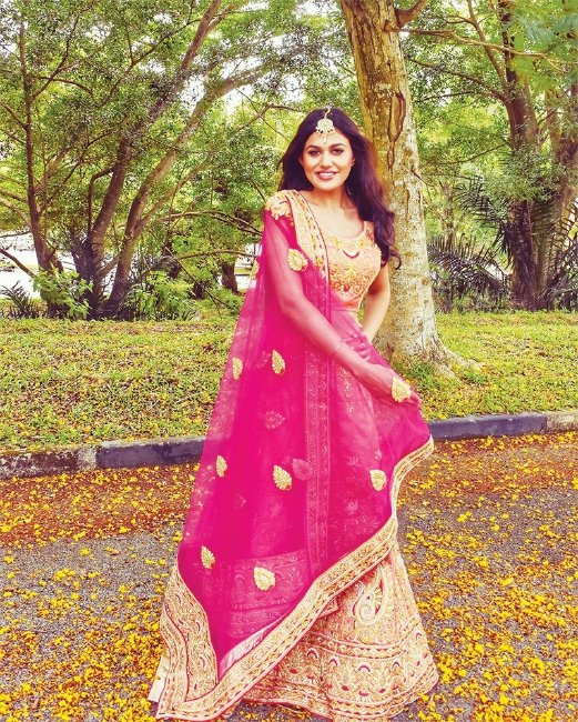 The range at Unveil focuses on bridal and cocktail lehengas, anarkalis and sarees.