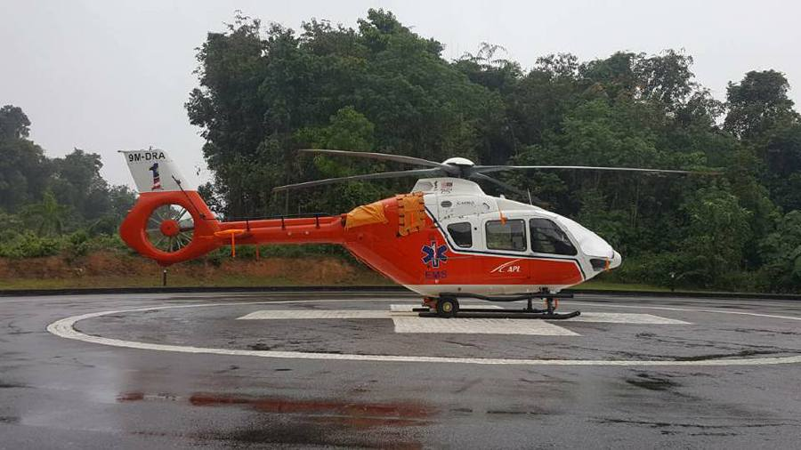 The Medical Evacuation Service (MedEvac) is now available for patients in Langkawi by the Langkawi Hospital. Pic source: Facebook/OfficialJKNKedah