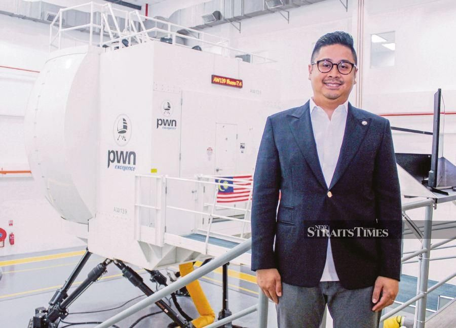 PWN Excellence Sdn Bhd chief executive officer, Hazlee Jehan says the company is committed to serve as one of the designated centres for rotary-winged simulator training. It is also keen to expand its services as a leading multi-platform service provider in the region. NST file picture.