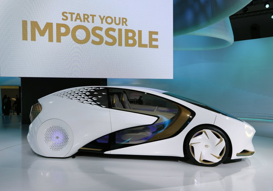 Toyota Motor's Toyota Concept-i is displayed at the 45th Tokyo Motor Show 2017 in Tokyo, Japan, 25 Oct 2017. The Tokyo Motor Show will be open to the ...