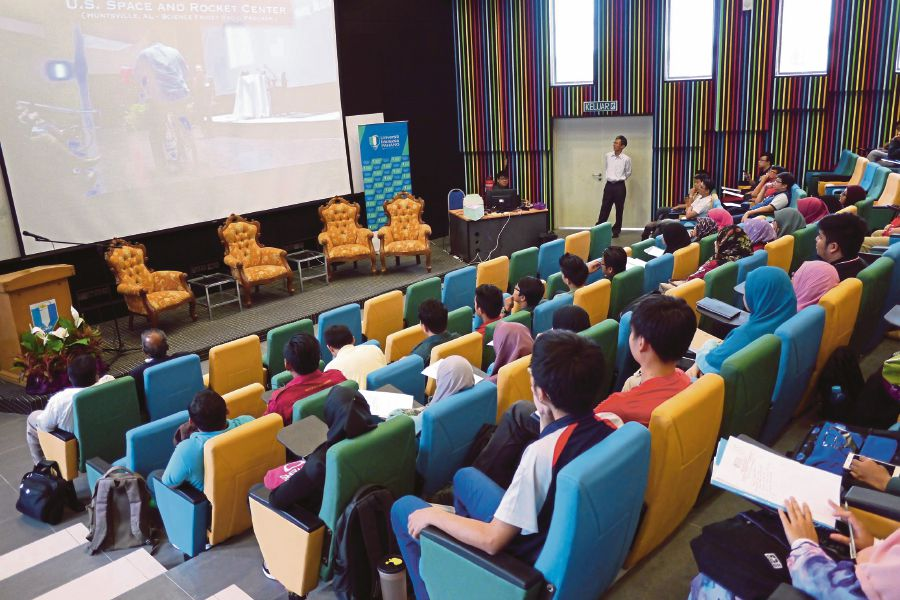 Students attending a lecture at Universiti Malaysia Pahang last year. We must help make science education more interesting, relevant and applicable to our daily lives. FILE PIC