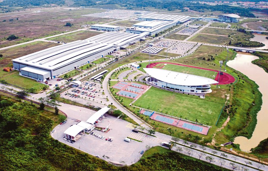 Aerial view of the Proton plant car assembly in Proton City, Tanjung Malim, Perak. FILE PIC