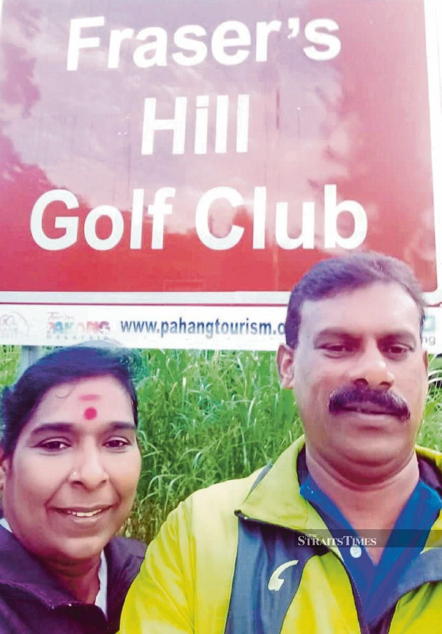 O. Sevegen@Segar and his wife M. Chitra Dewi at Fraser's Hill. PIC BY T.N. ALAGESH