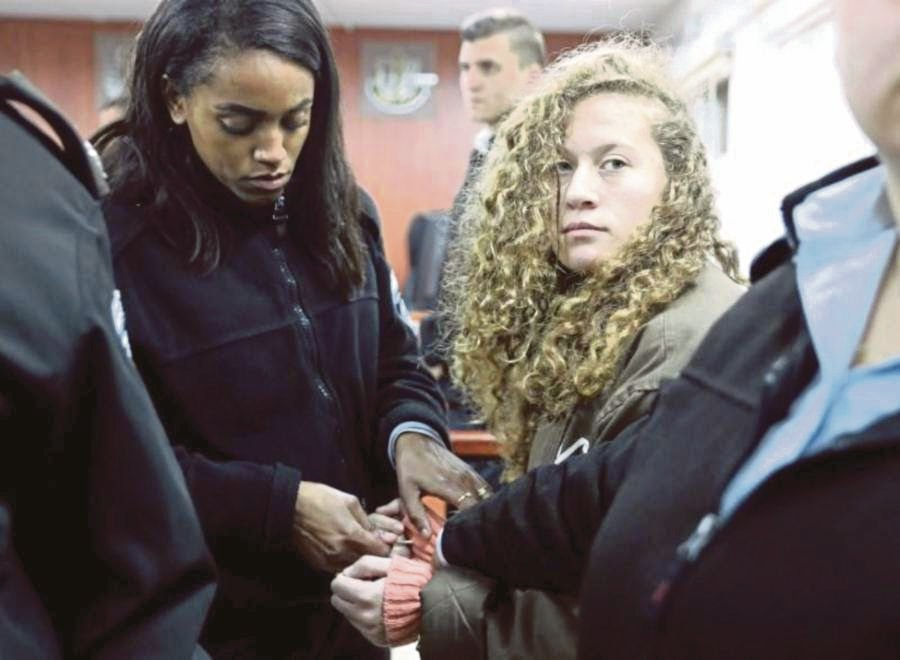Ahed Tamimi, perhaps the most famous Palestinian teenager. FILEPIC