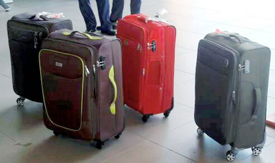 Five men carrying drugs in luggage detained at Sandakan