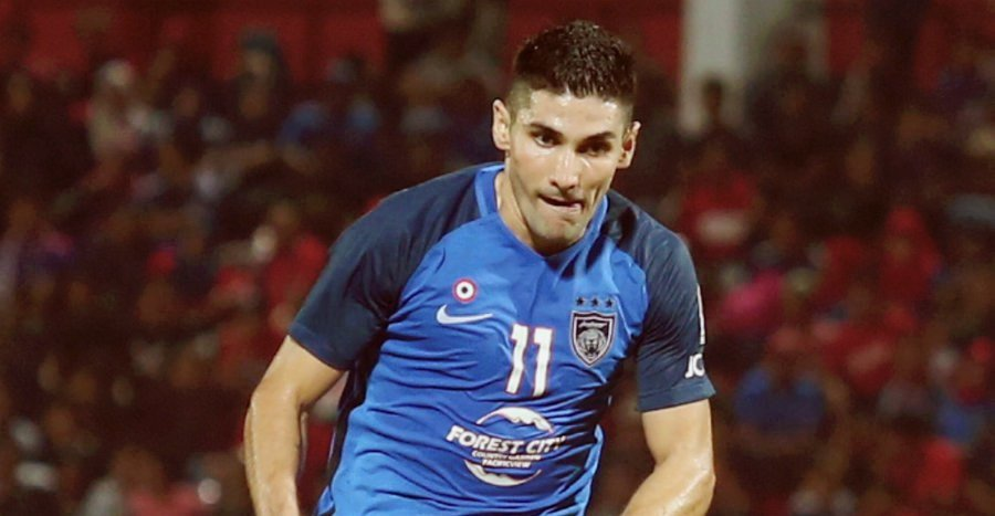 Former JDT forward Jorge Pereyra Diaz has been linked with a move to Indonesian side Persib Bandung. Pic by HAIRUL ANUAR RAHIM