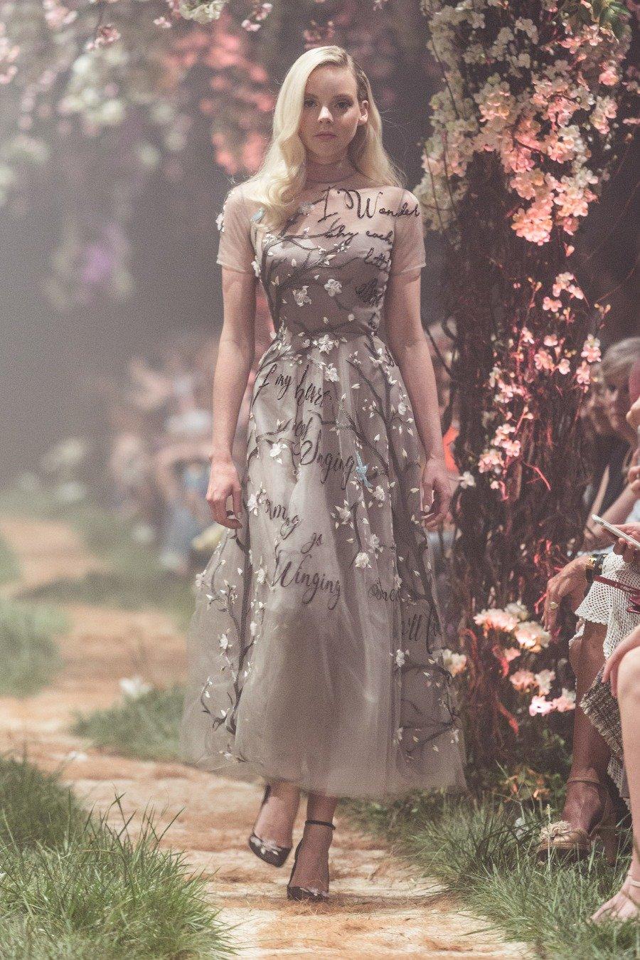 3335e780f98 A dress embroidered with the lyrics of I Wonder from Sleeping Beauty. Photo  courtesy of Paolo Sebastian.