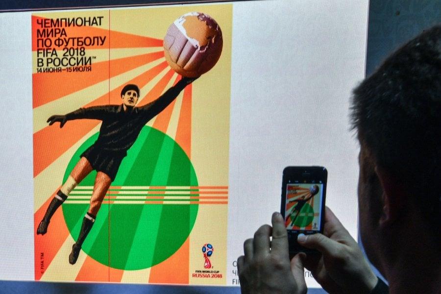 Federation Internationale de Football Association unveils World Cup 2018 poster, Russian great Lev Yashin stars