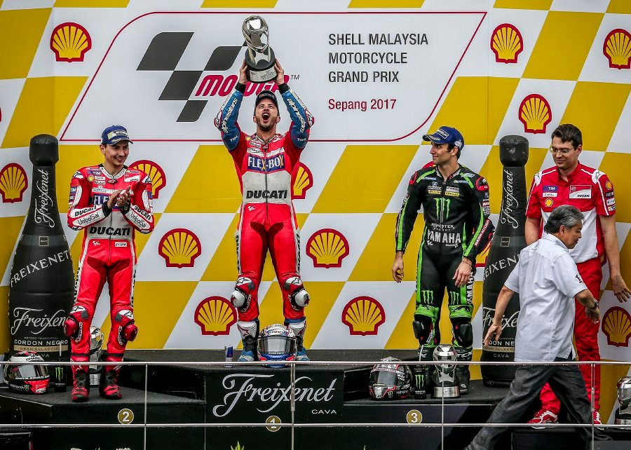 Pedrosa on pole in Malaysia MotoGP as Marquez crashes