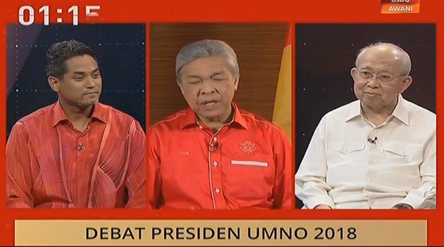 Image result for 2018 UMNO Presidency Debate – Razaleigh, Zahid and Khairy
