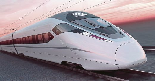 A Japanese Maglev train. The Johor ruler says a company is studying the possibility of setting up the Maglev project for the state.