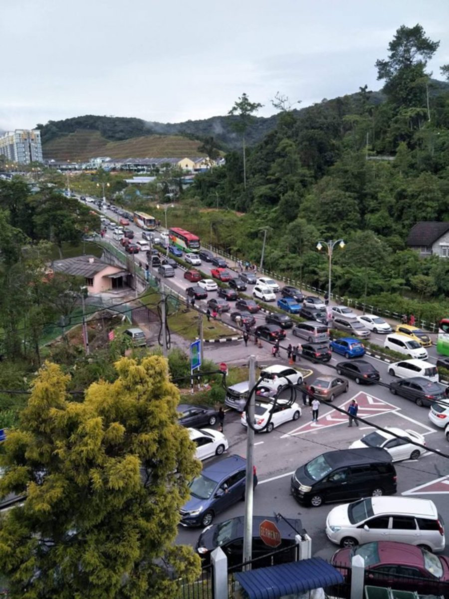 Chronic traffic jams at Cameron Highlands, especially during holiday period's sees the need for restricted vehicle access to the tourist spot. (Pic courtesy from ohbulan.com)