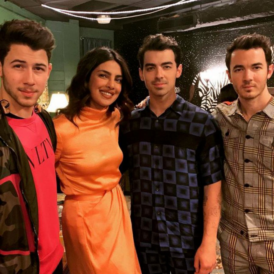 The couple with Nick's brothers — Joe and Kevin. - Instagram/Priyanka Chopra Jonas