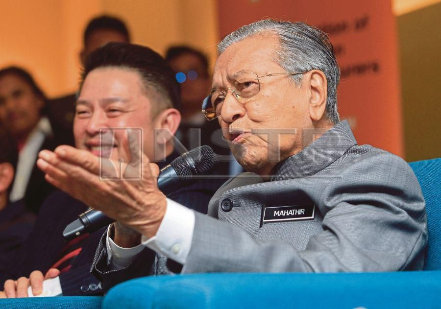 Prime Minister Tun Dr Mahathir Mohamad says a decision to sign the International Convention on the Elimination of All Forms of Racial Discrimination will be made only after a discussion with all races. PIC BY ASWADI ALIAS