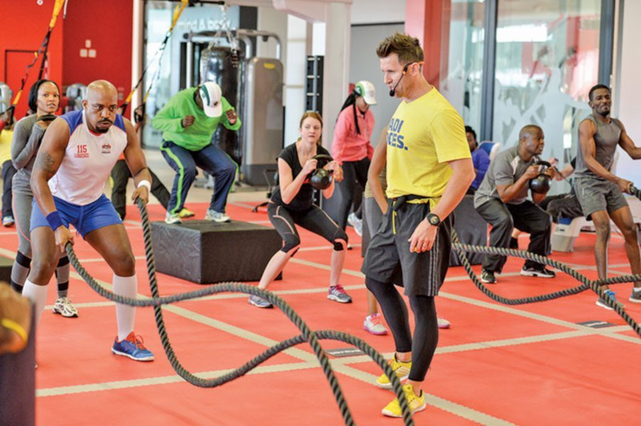Training with ropes for fitness. Picture from: virginactivesa.files.com