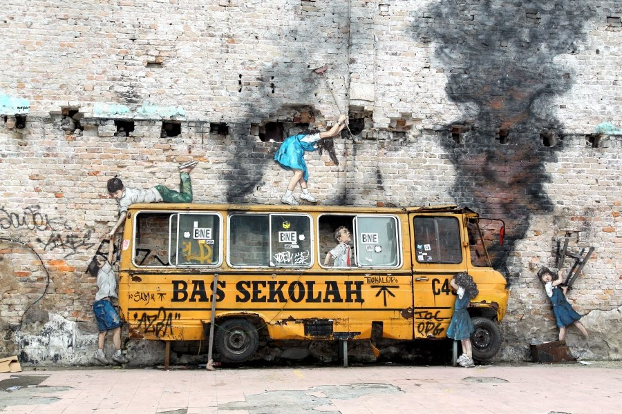 Rage Against the Machine by Lithuania-born artist Ernest Zacharevic
