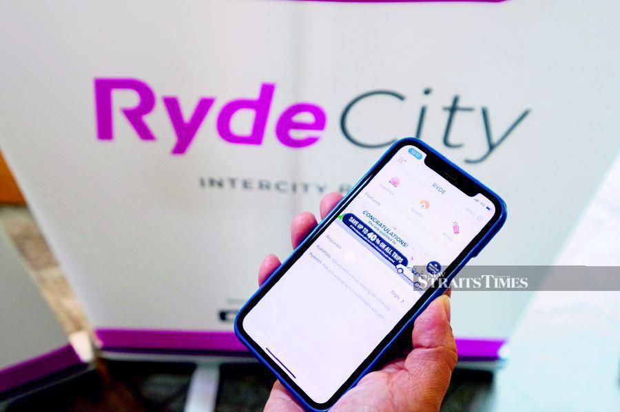 The Ryde app.