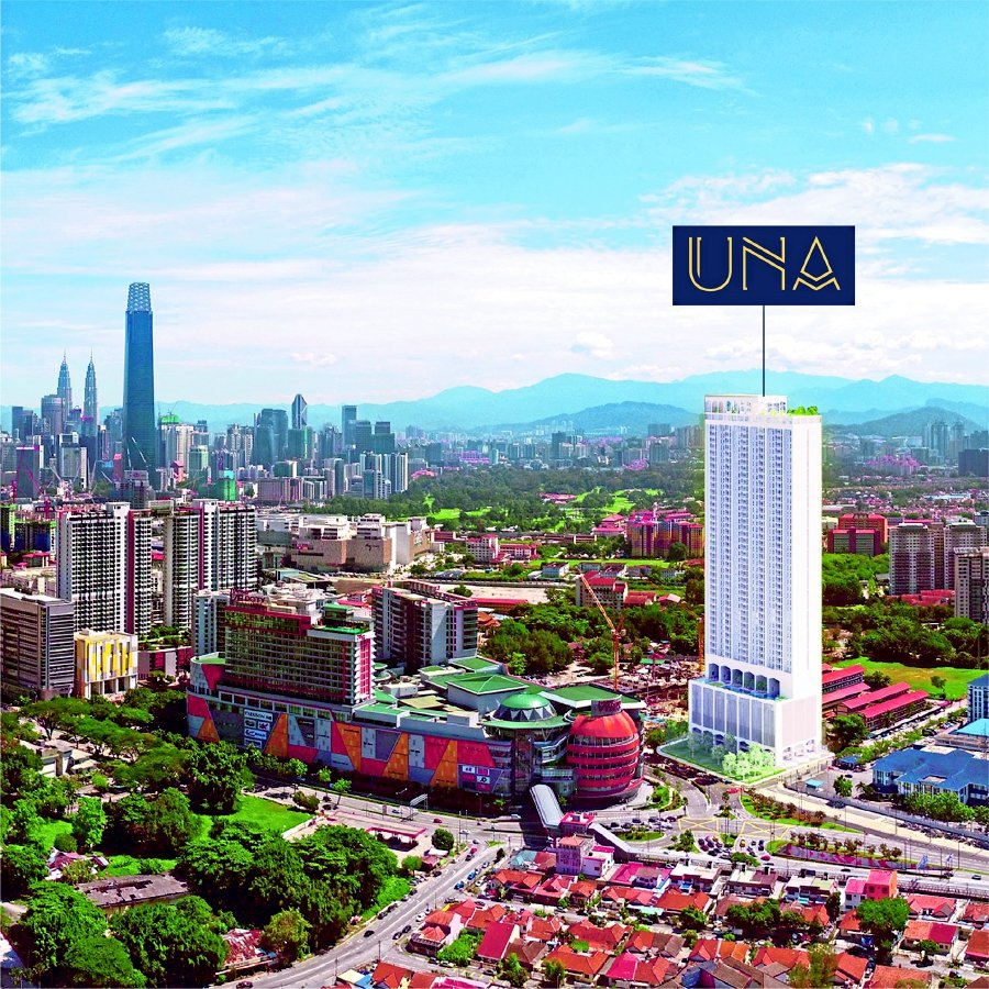 UNA Serviced Apartment is located opposite Sunway Velocity in Jalan Peel. - Pic source: SDB